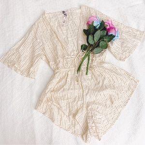 BNWT Victoria's Secret stripe sleepwear pj romper